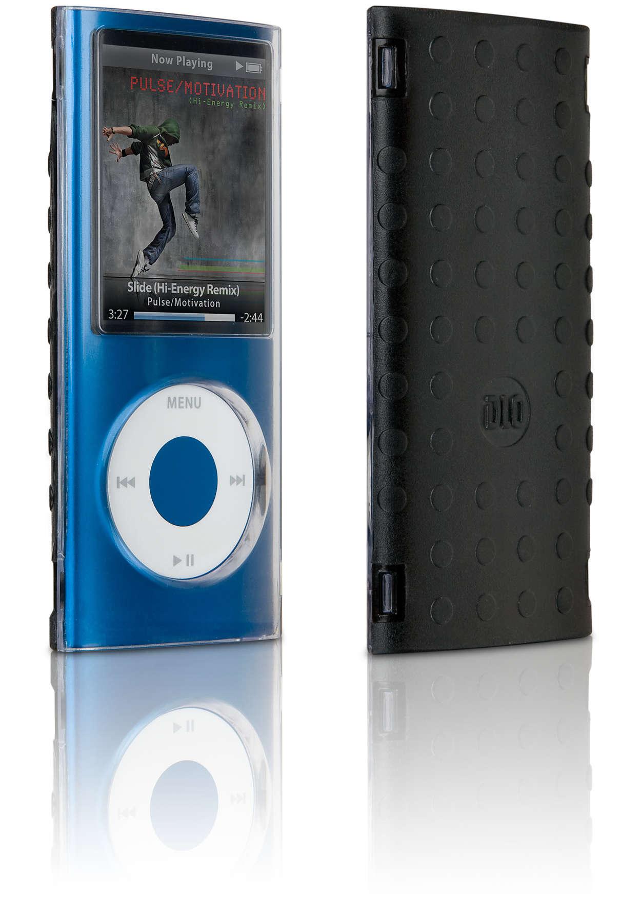 Protejaţi-vă dispozitivul iPod cu o carcasă transparentă