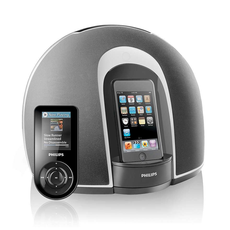 In stereo naar uw iPod luisteren