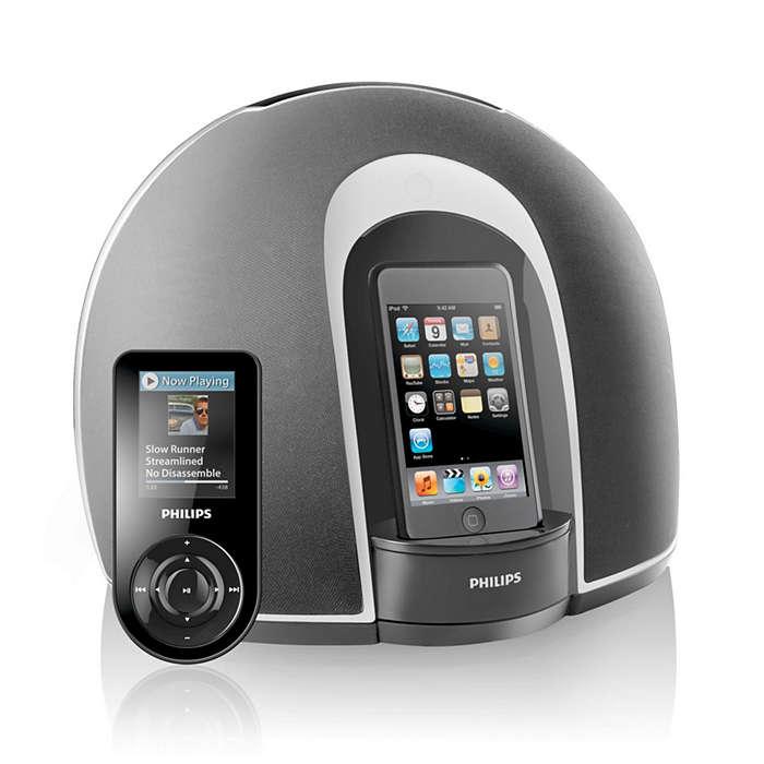 Desfrute do iPod em som estéreo total