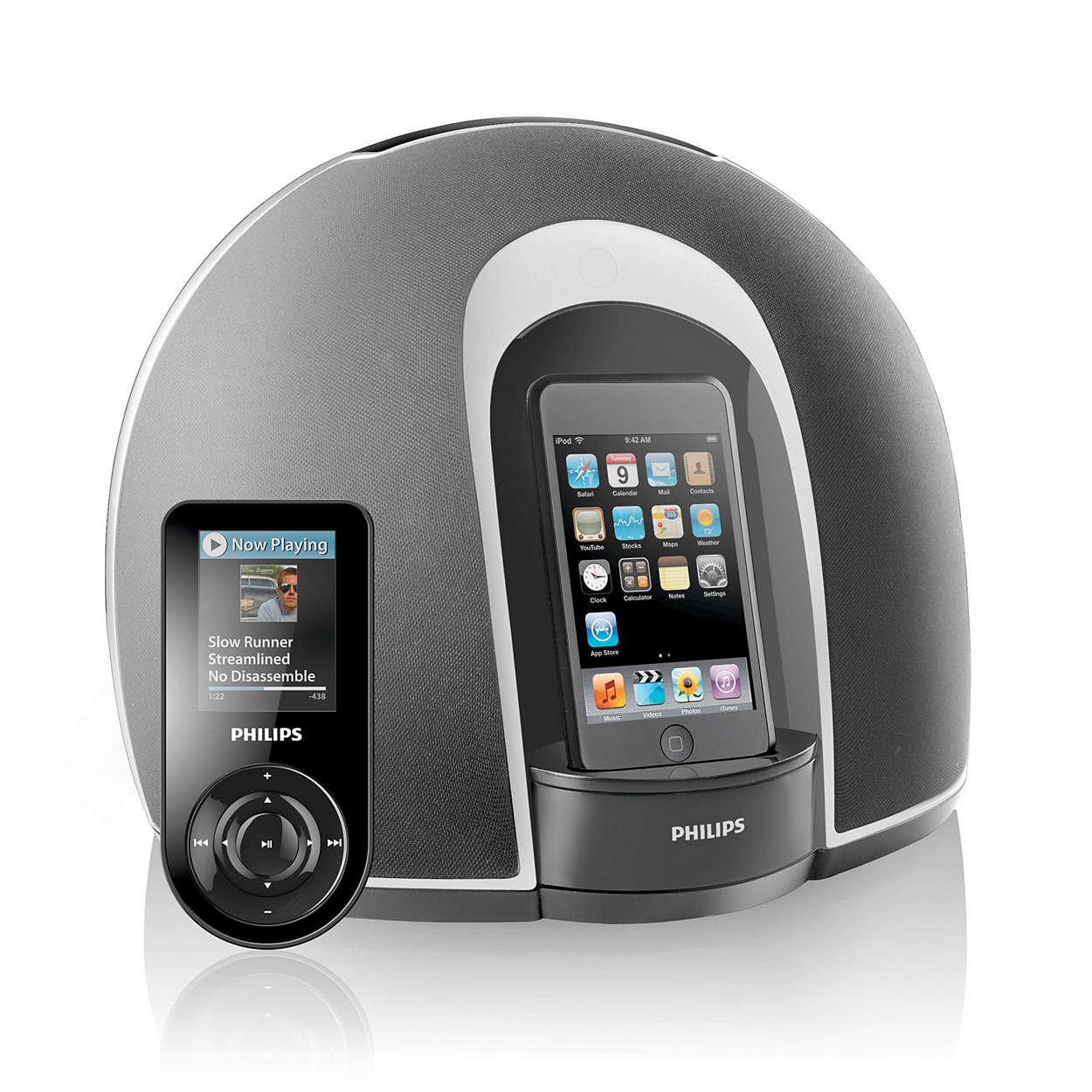 Bucuraţi-vă de iPod cu sunet stereo şi control