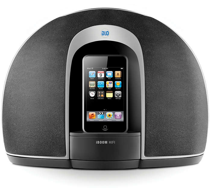 Enjoy iPod in clear stereo sound