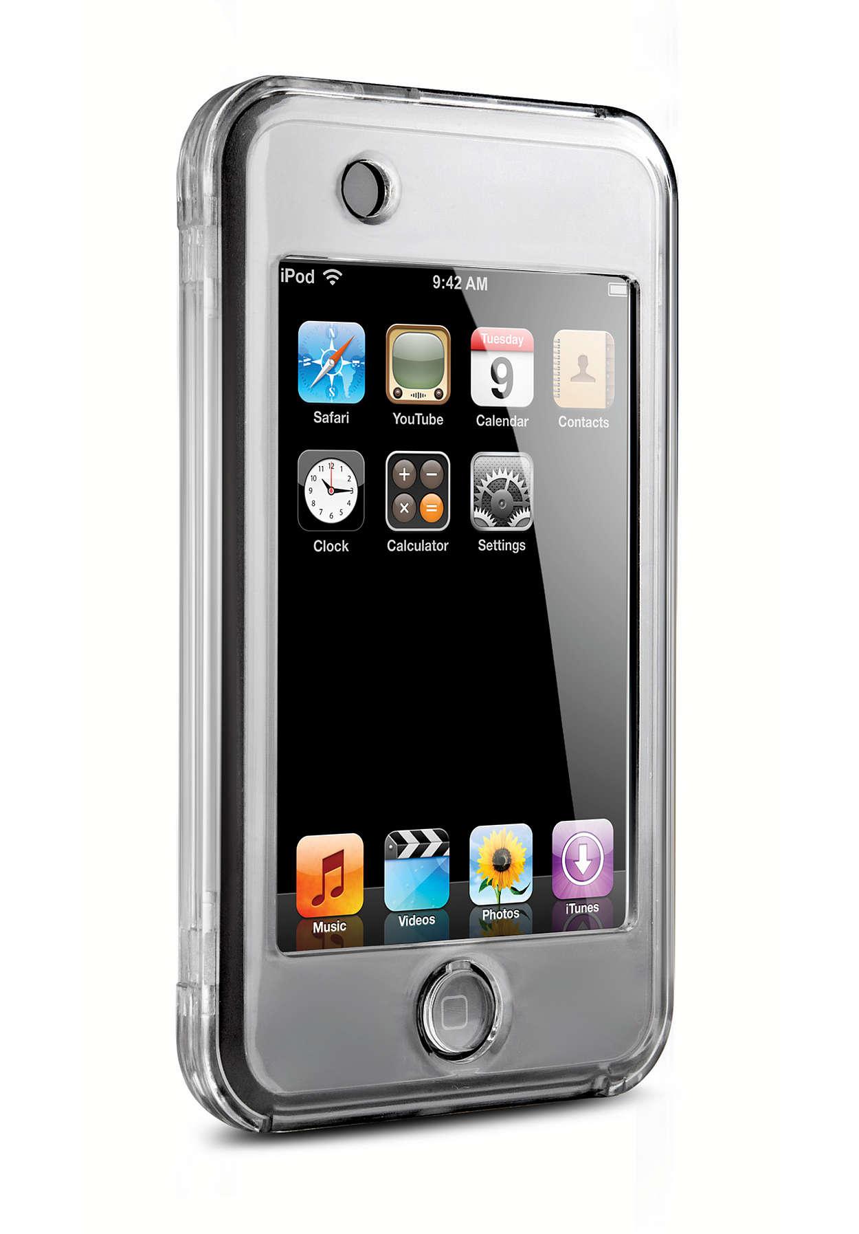 iPod'unuzu şeffaf kılıfla koruyun