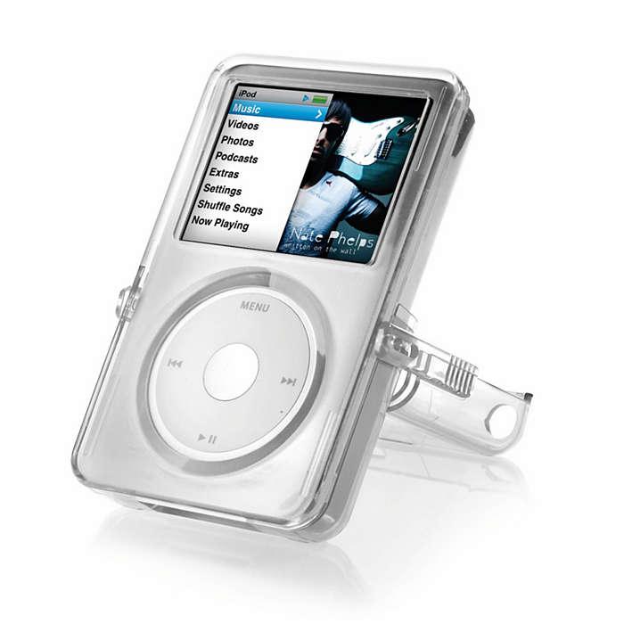 """Apsaugokite """"iPod"""" permatomu dėklu"""