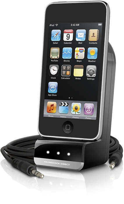 Play and charge iPod in the car