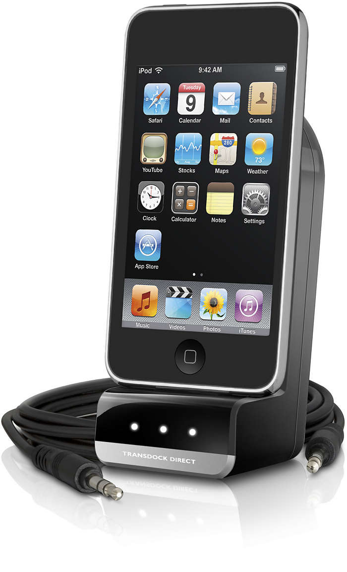 Använd och ladda din iPod i bilen