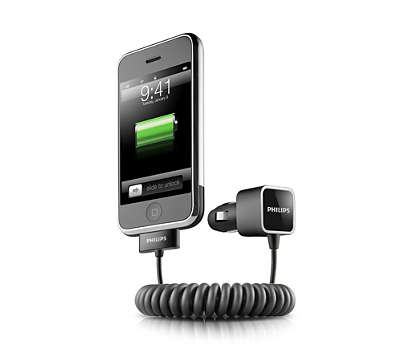 Ładowanie telefonu iPhone w trasie