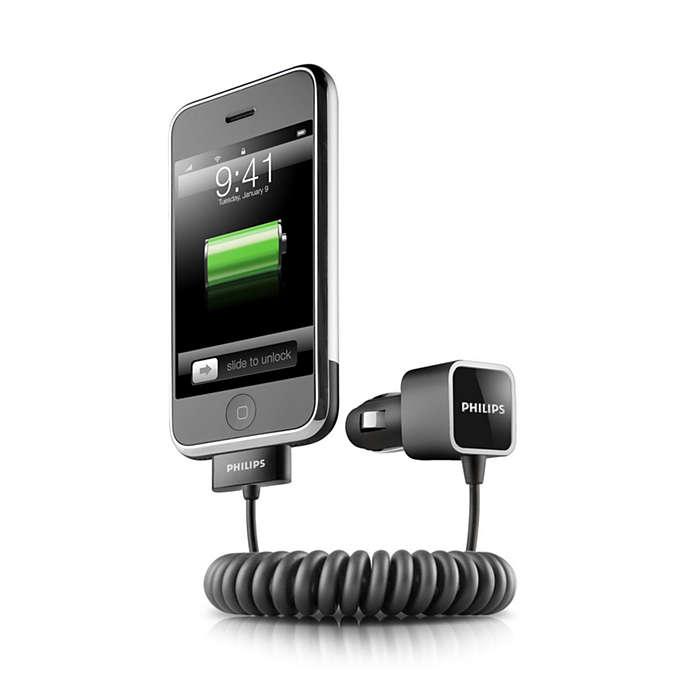 Заряжайте iPone в дороге.