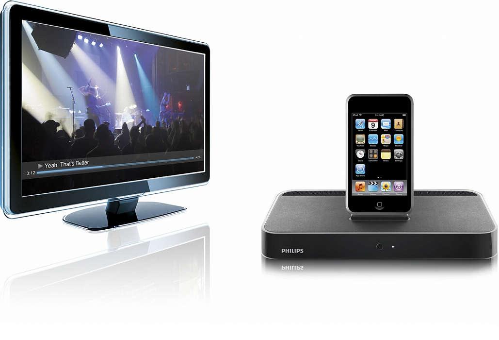 Profitez du contenu de votre iPod sur votre téléviseur