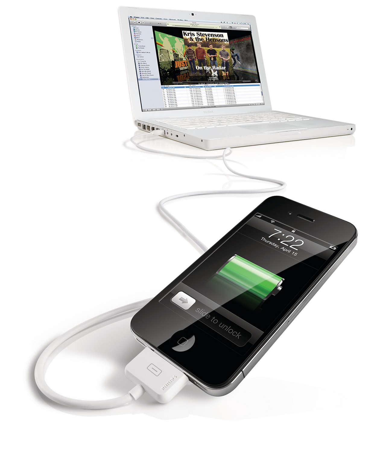 Tilslut til din computer via USB