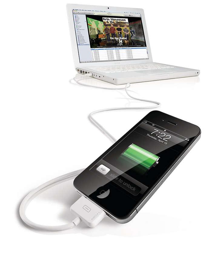 Podłącz do komputera za pomocą złącza USB