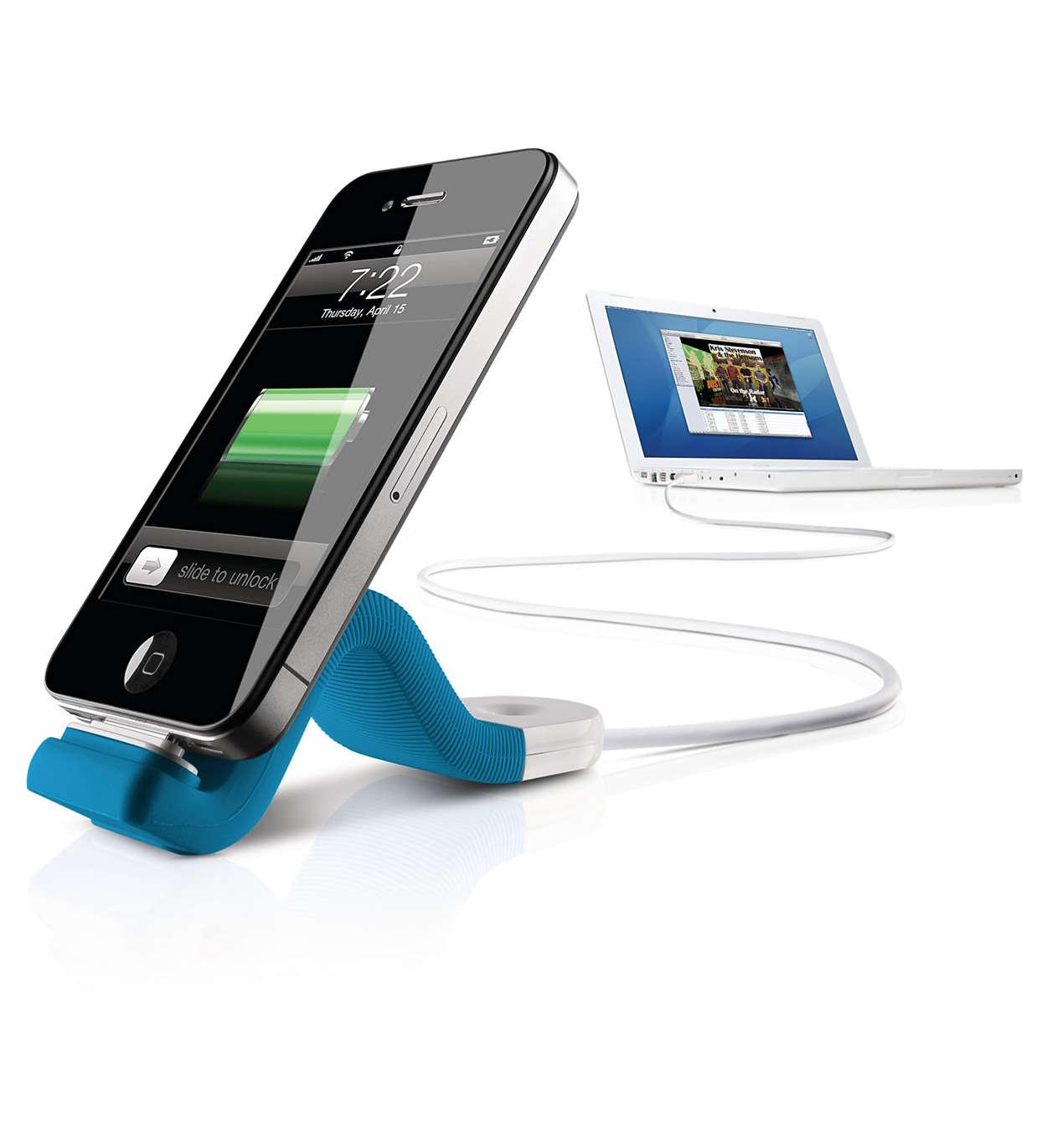 Synchronisez et chargez votre iPhone