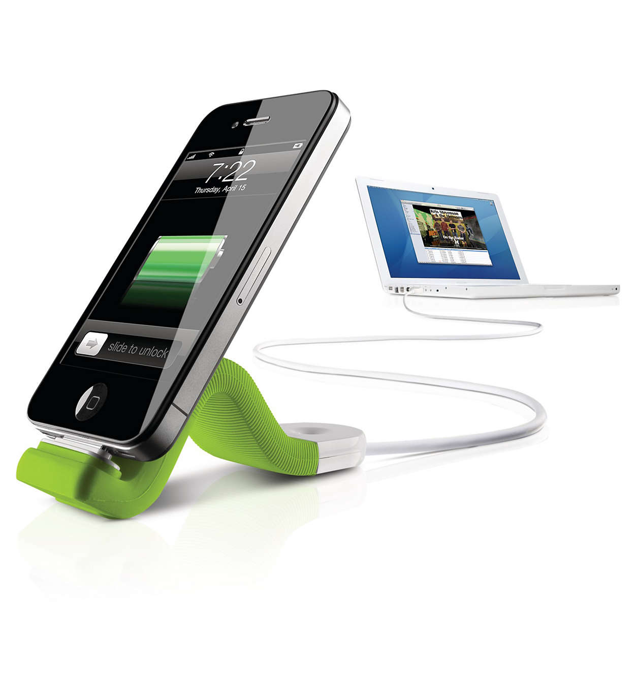 Sync, charge and stand