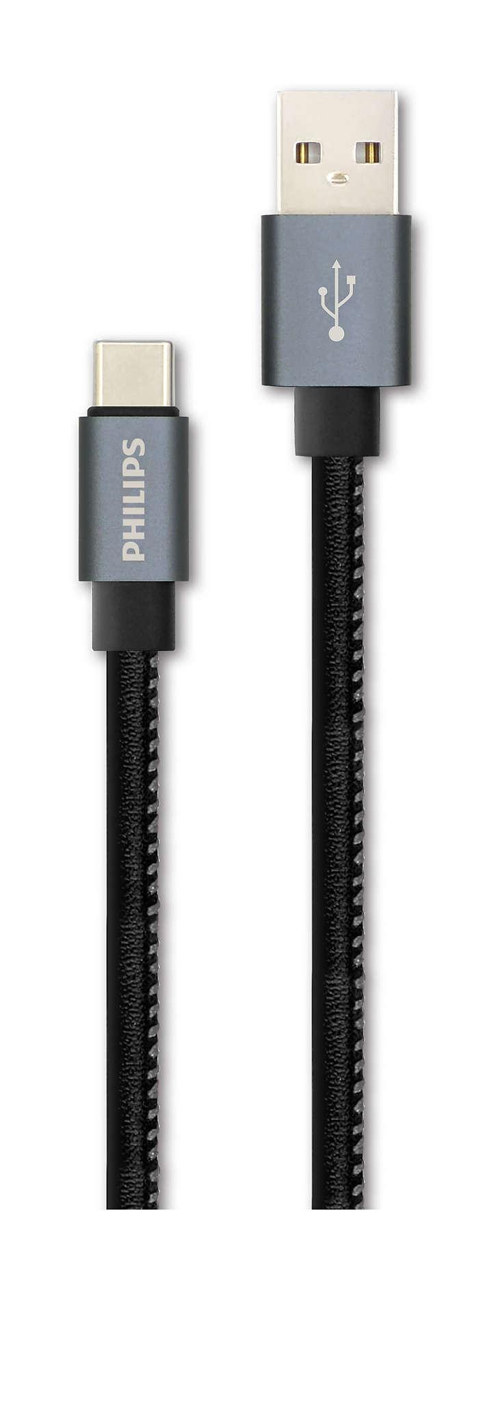 Cabo de 1,2 m do USB A para C