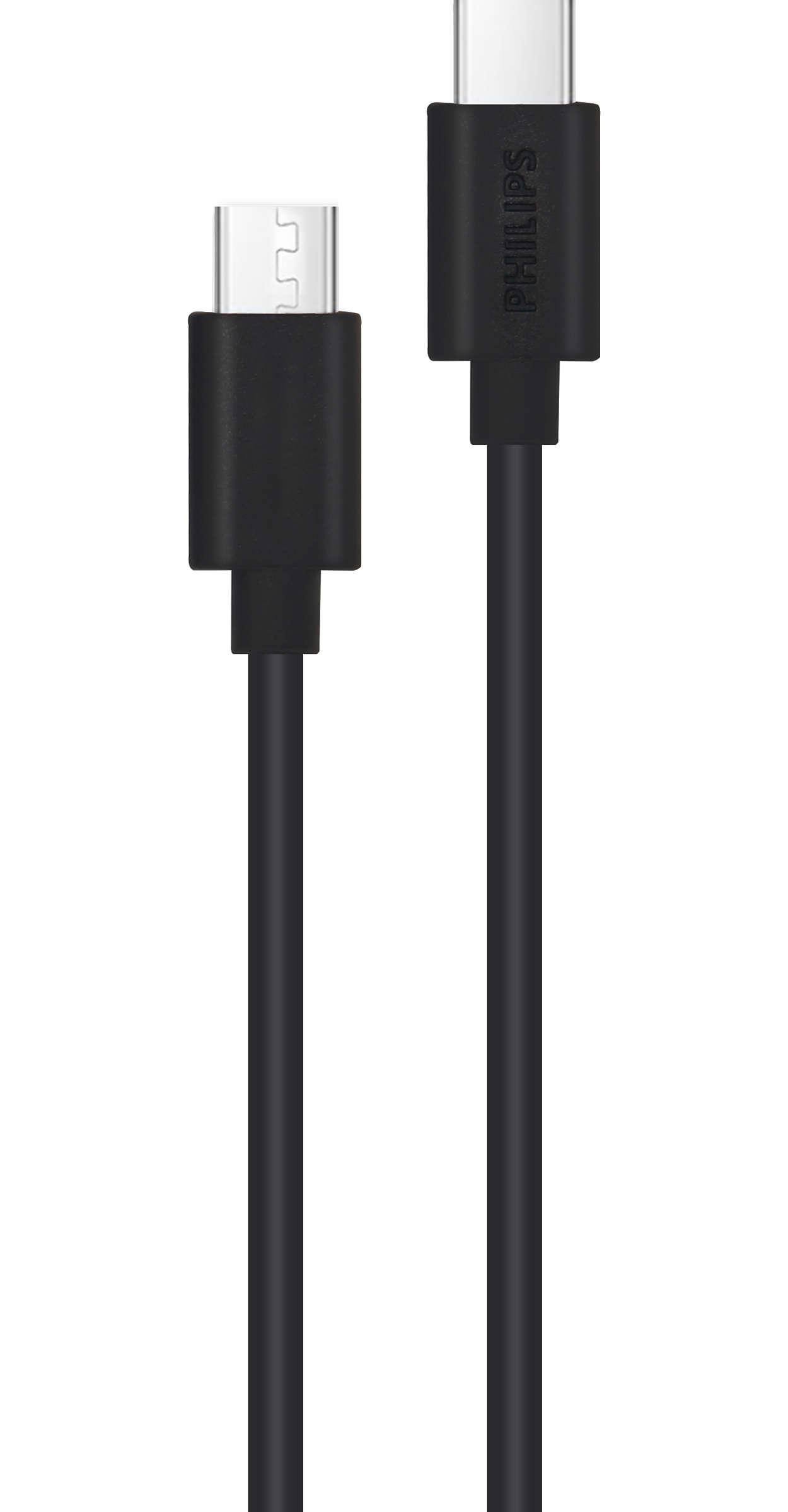 2 m USB-C til USB-C-kabel