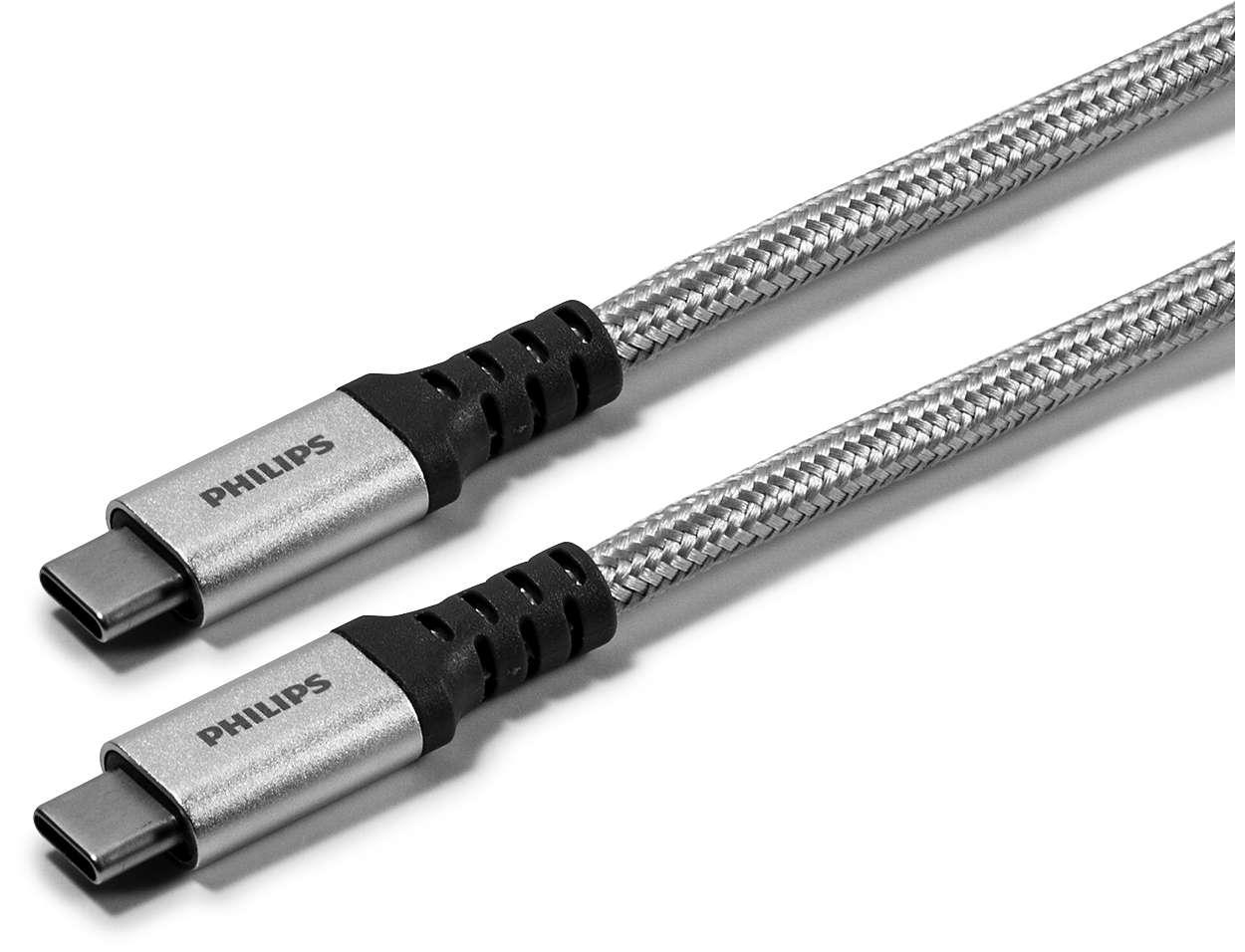 Premium braided USB-C cable aluminum connector