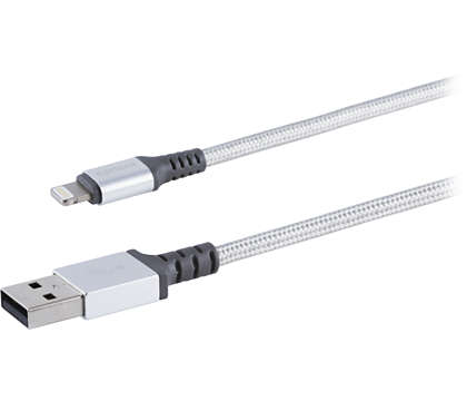 Premium braided Lightning cable aluminum connector