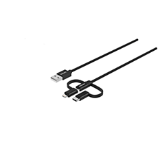 DLC5206T/00  Cable 3 en 1: Lightning, USB-C, Micro USB