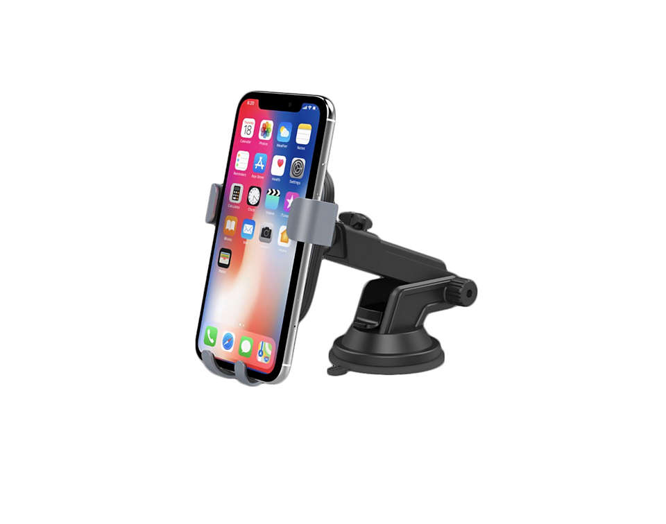 Car mount with Qi wireless charging