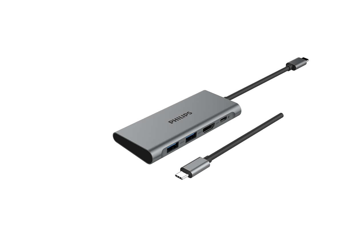 USB-C 3.0 ハブを 4 ポートミニハブに拡張