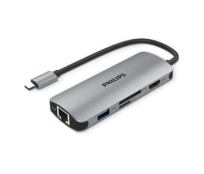 USB-C 3.0 ハブを 6 ポートミニハブに拡張。