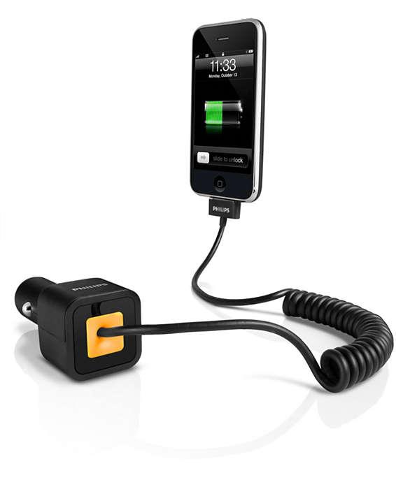 Carga el iPhone o iPod en el coche