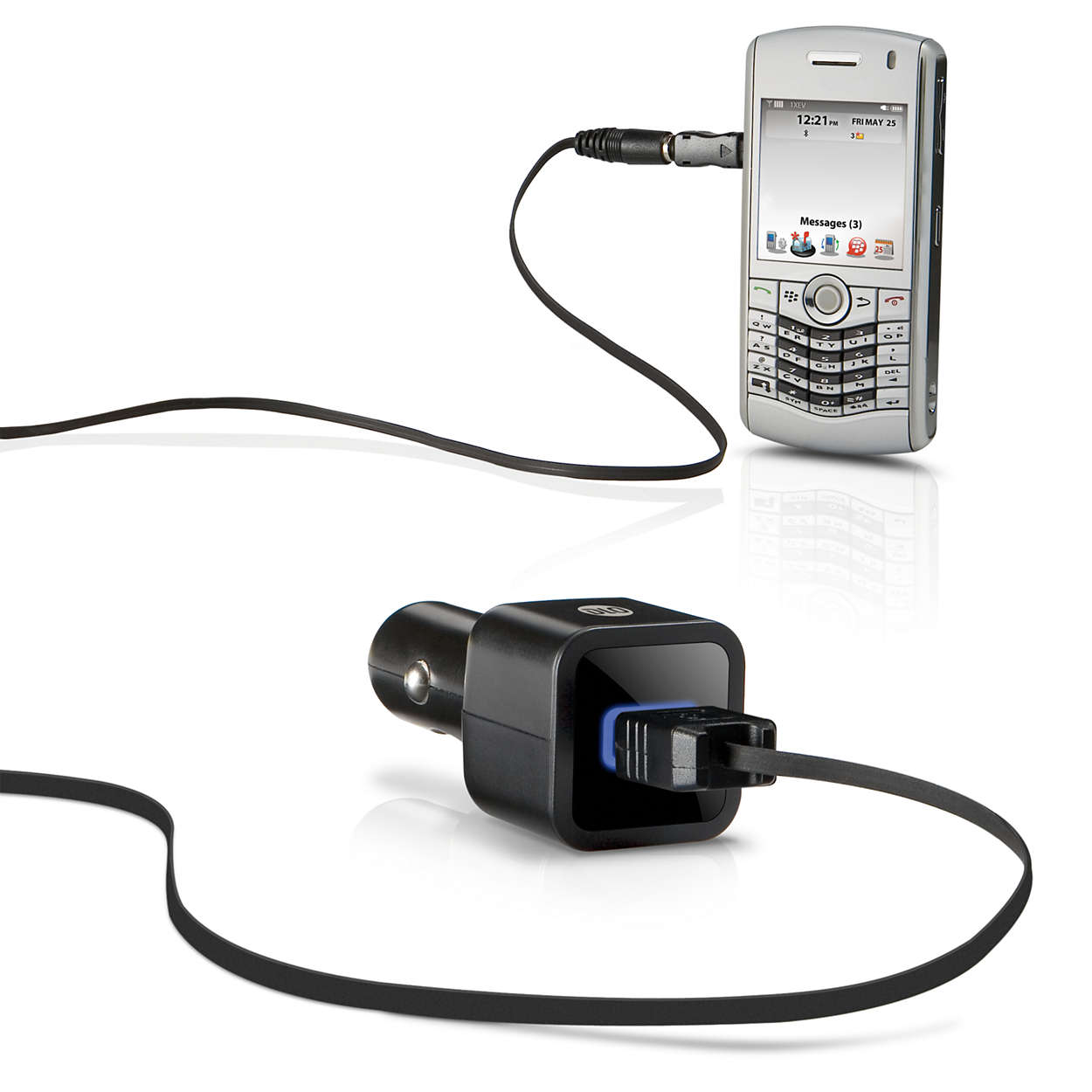Carga el teléfono móvil en el coche