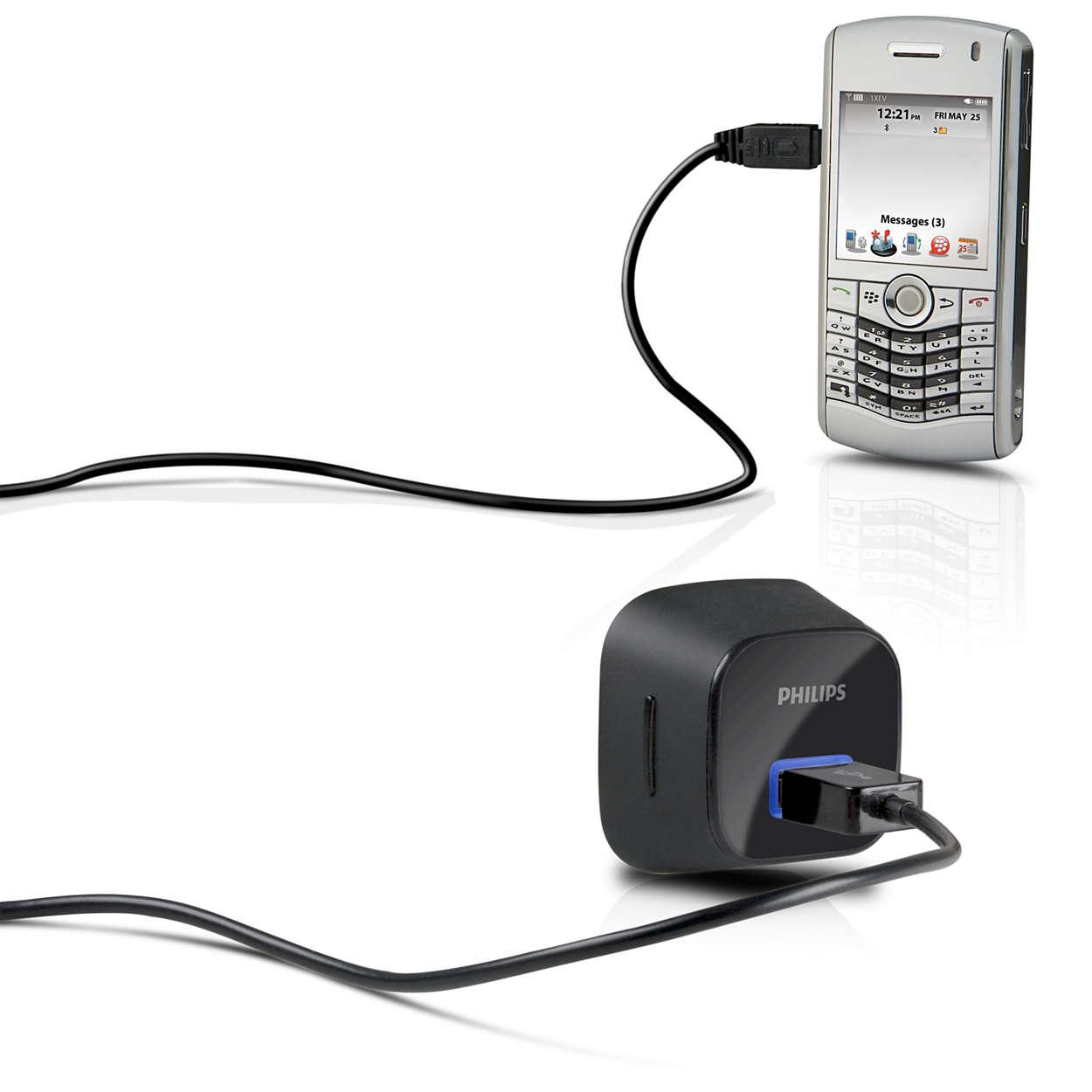 Mantén tu teléfono móvil cargado