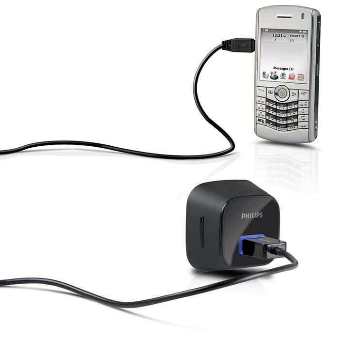 Uw mobiel altijd opgeladen