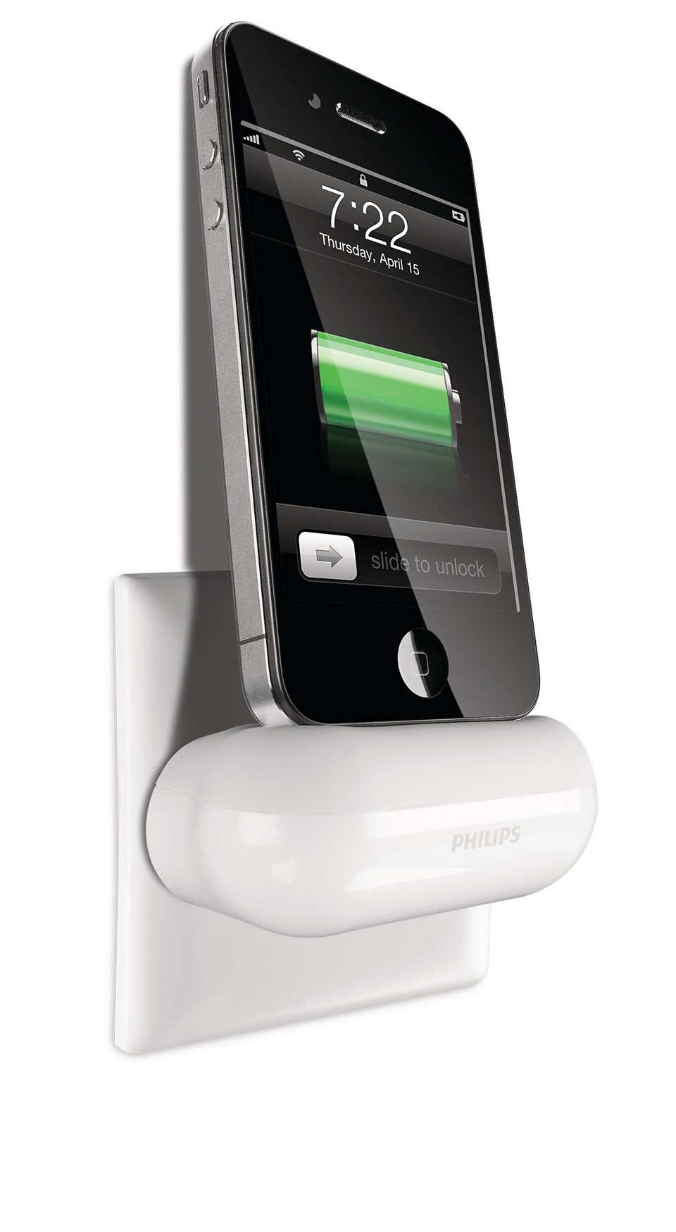 Plug-in charging dock