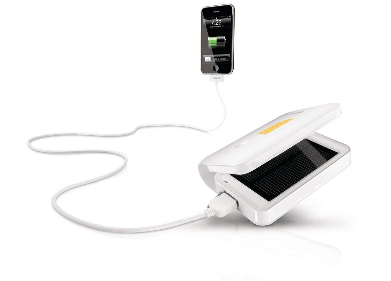 Заряжайте устройства с помощью солнечной энергии