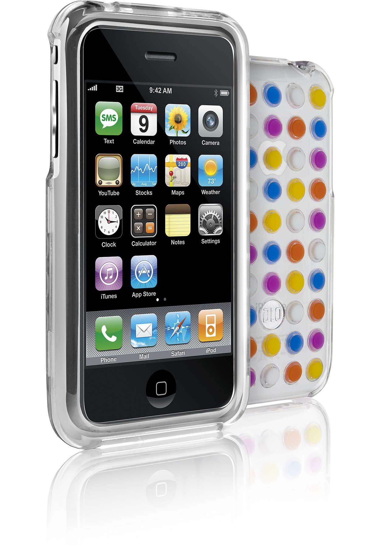 Suojaa iPhone läpinäkyvissä kuorissa