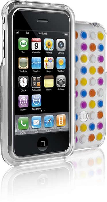Beskytt iPhone-enheten i et gjennomsiktig skall