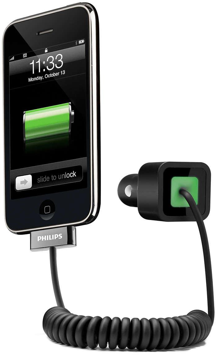 Uw iPhone onderweg opladen