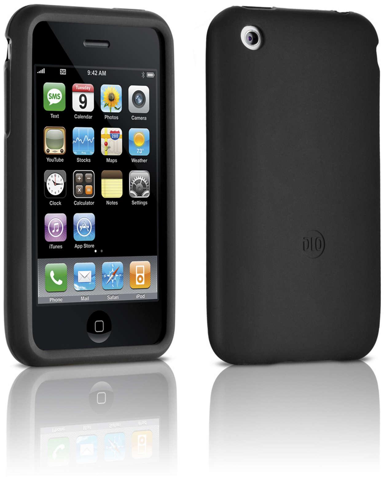 Beskyt din iPhone i et silikoneetui,