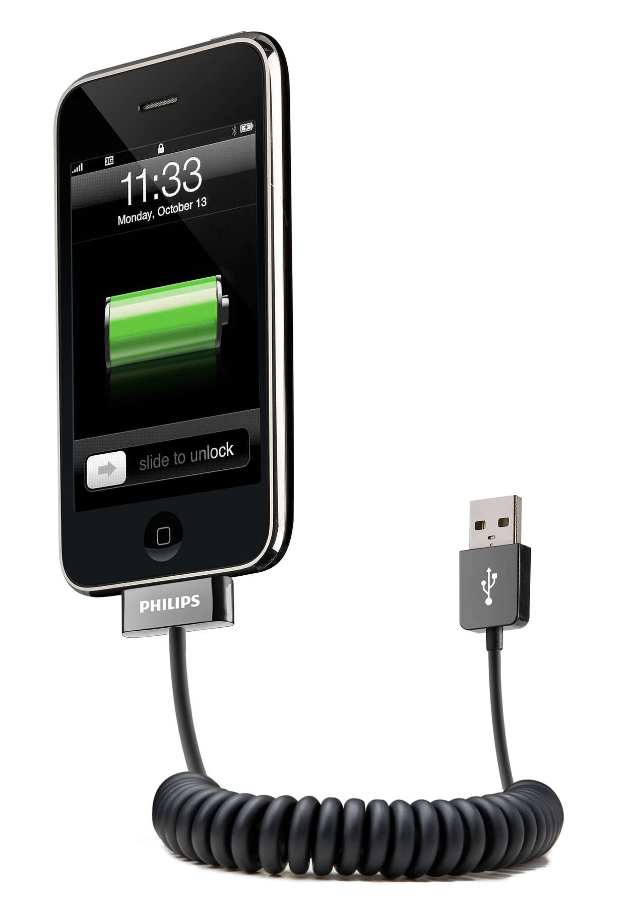 Connectez votre appareil à votre ordinateur par USB