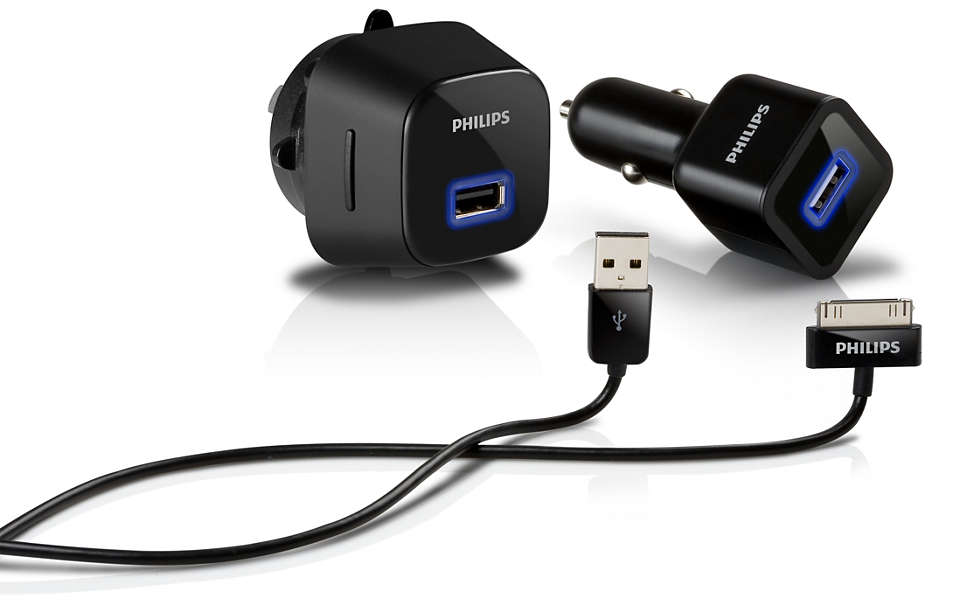 Charge iPhone at home or on the road