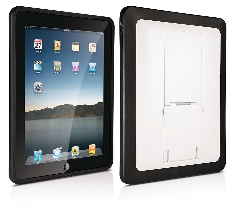 Suojaa iPad kovalla kotelolla,