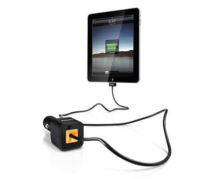 Carica il tuo iPad, iPhone o iPod in auto
