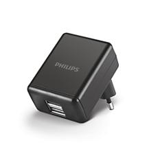 DLP2209/12  Dvojni stenski polnilnik USB