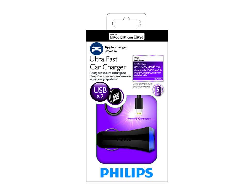 iPhone 5 töltő DLP2207V12   Philips