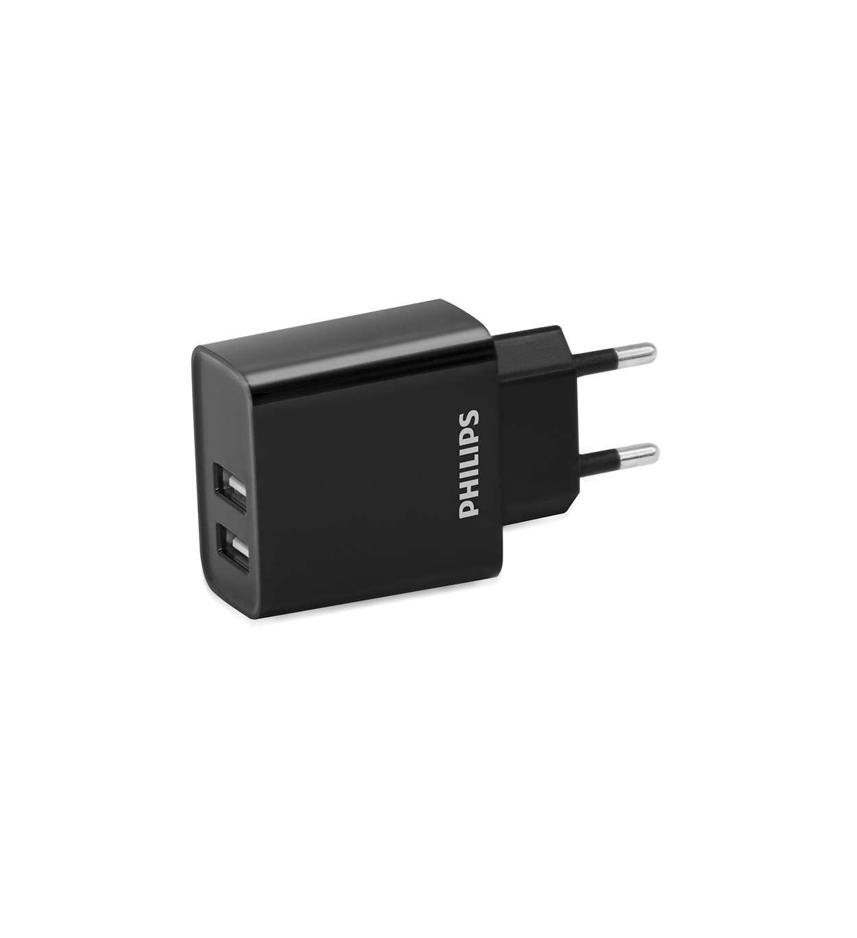 Fali USB töltő