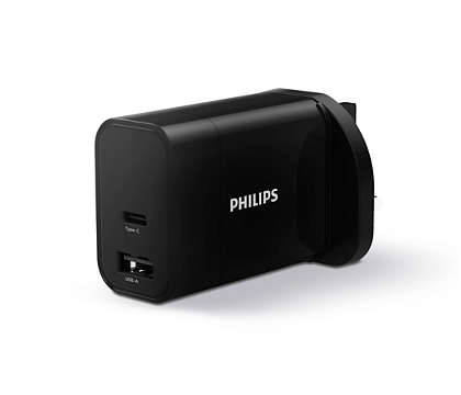 Wall charger 1C 1A ports