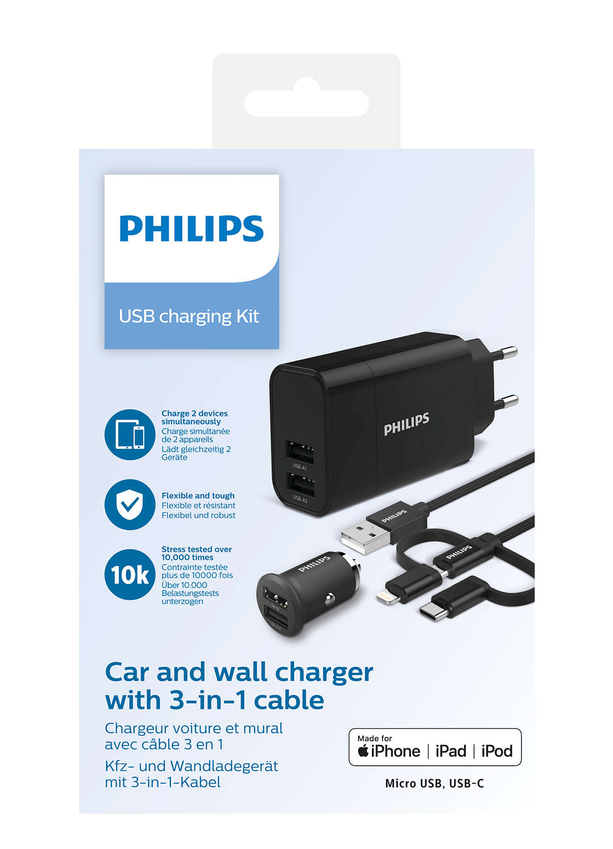 USB Ladegeräte und Autoladegeräte DLP2810T12 | Philips