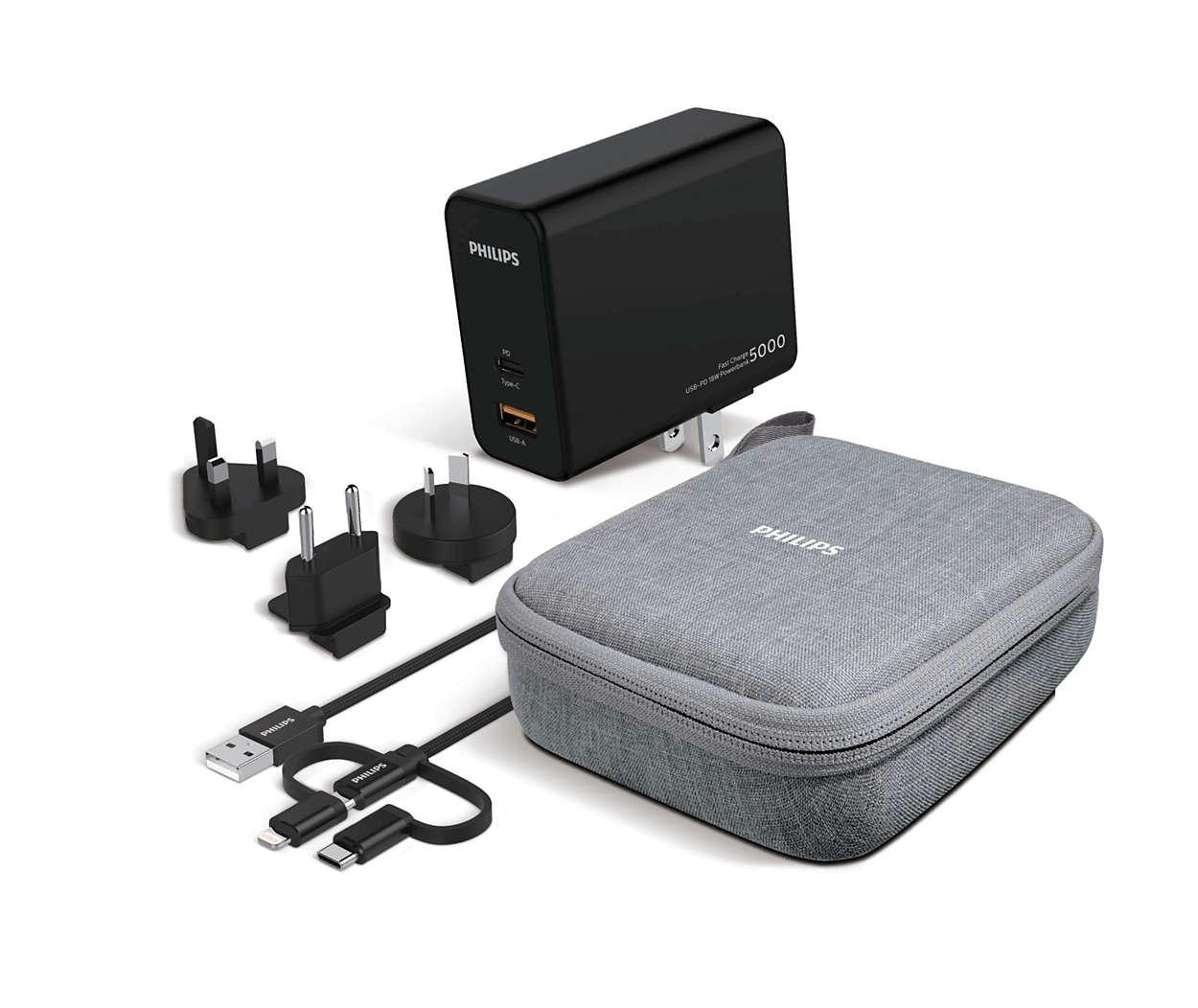 Bateria portátil versátil para viagem