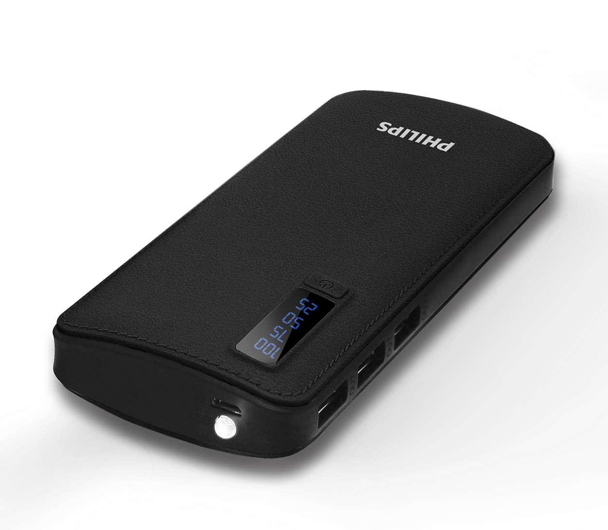 Powerful 3 USB ports power bank