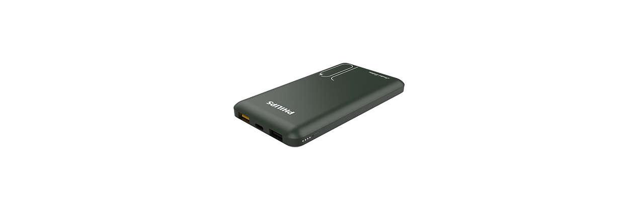 スリムでパワフルなモバイルバッテリー