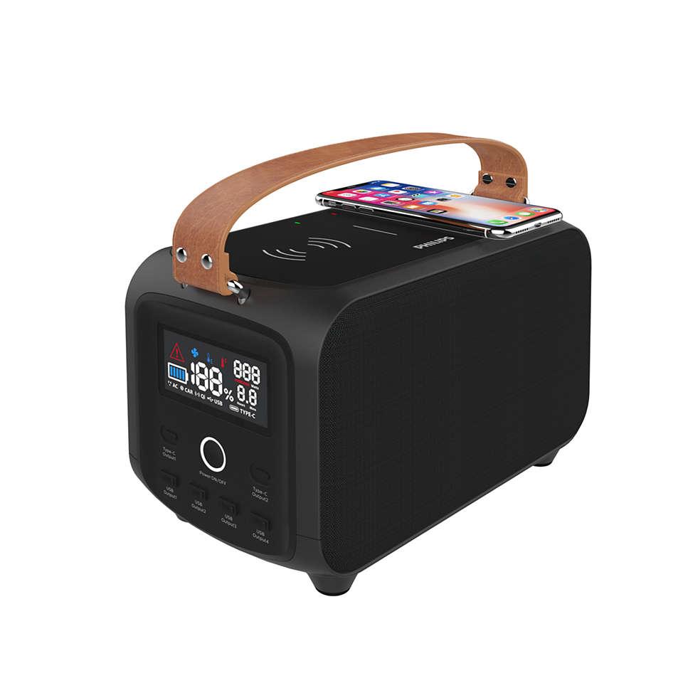 Kraftfullt batteripaket för camping med mera
