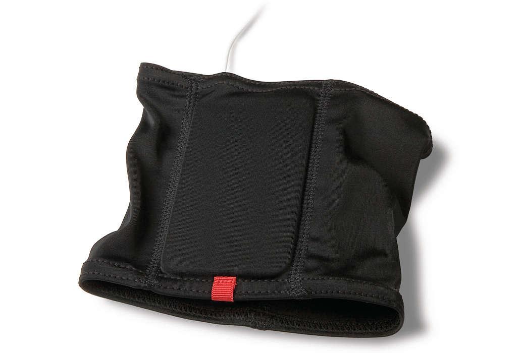 健身時透過時尚腕帶式保護套