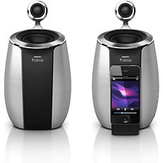 DS6600/10 - Philips Fidelio  Mini altifalantes de base SoundSphere