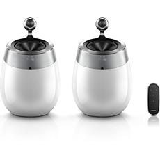 DS9830W/10 Philips Fidelio AirPlay SoundSphere-Lautsprecher mit Spotify Connect